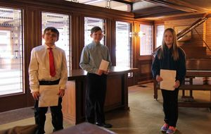 Fifth-Graders Shine as Darwin Martin House Junior Docents
